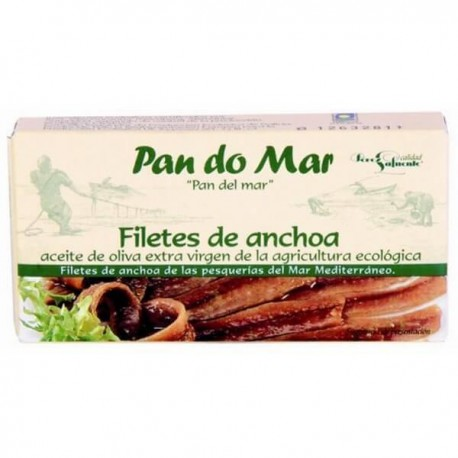 Filetes de anchoa en AOVE BIO 50 gr PAN DO MAR