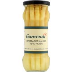 Esparragos blancos BIO 12/20 frutos tarro cristal 345 gr Gumendi