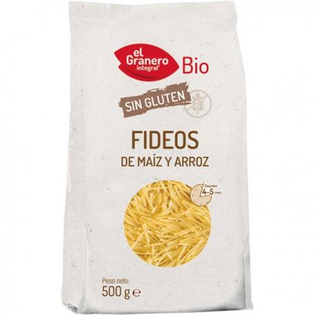 Fideos de maiz y arroz BIO 500 gr Granero Integral