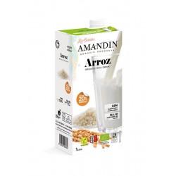 Bebida arroz BIO 20% Amandin,1 lt