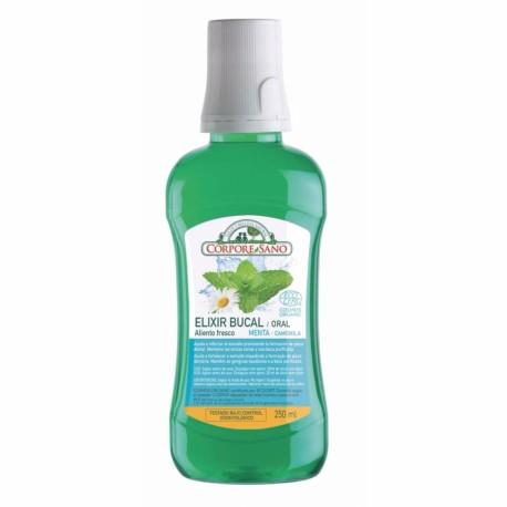 Elixir bucal Cosmo Organic menta y camomila 250 ml Corpore Sano