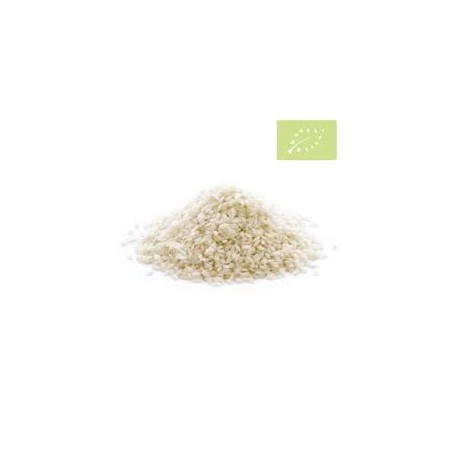 Arroz redondo blanco BIO, precio por 100 gramos