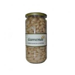 Alubias blancas BIO al natural tarro cristal 660 gr Gumendi