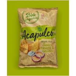 Nachos maiz BIO cebolla y crema agria 125 grs, Acapulco