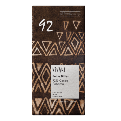 Chocolate negro BIO 92% 80 grs., VIVANI