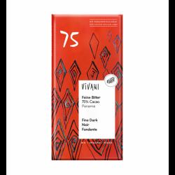 Chocolate negro BIO 75% 80 grs., VIVANI