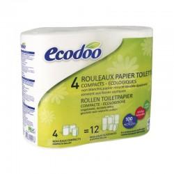 Papel higiénico compacto 100% fibra reciclada Ecodoo 4 unidades