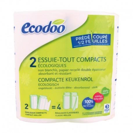Papel de Cocina compacto 100% fibra reciclada Ecodoo 2 Uds