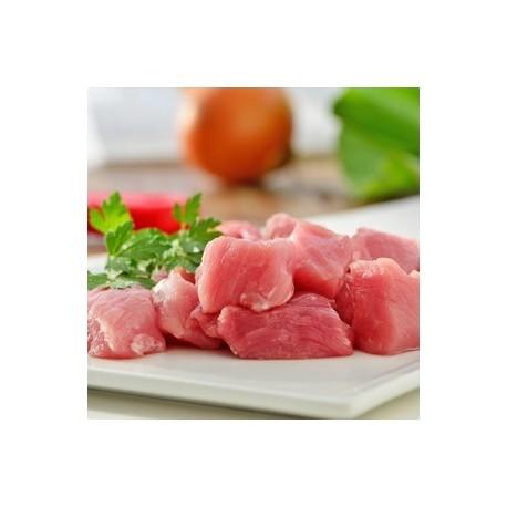 Magro troceado de cerdo ECO, precio por 100 gramos. Bandeja 400 grs. aprox. POR ENCARGO