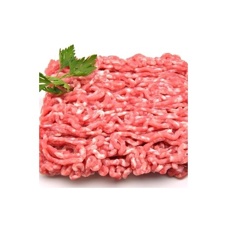 Picada de cerdo ECO, precio 100 grs. Bandeja 400 grs. aprox. POR ENCARGO