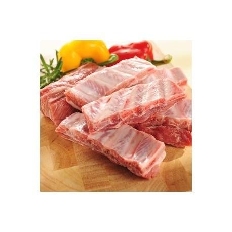 Costillas cerdo ECO, precio 100 grs. Bandeja 400 grs. aprox. POR ENCARGO