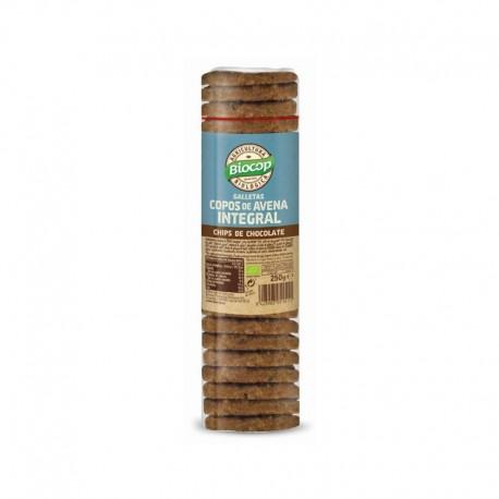 Galleta de copos de avena integral con chips de chocolate Biocop 250 g