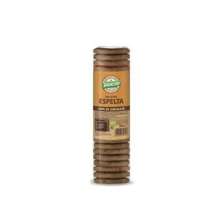 Galleta de espelta con chips de chocolate Biocop 250 g