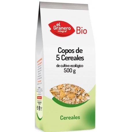 Copos de 5 cereales BIO 500 gr