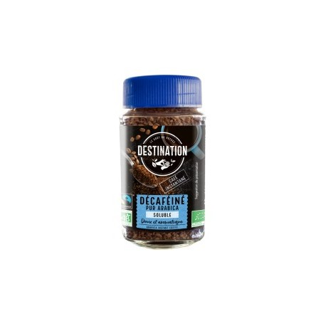 Cafe soluble BIO descafeinado 100 gr Destination