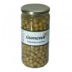 Garbanzos BIO al natural tarro cristal 660 gr Gumendi