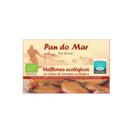 Mejillones BIO en salsa de tomate 115gr Pan do mar